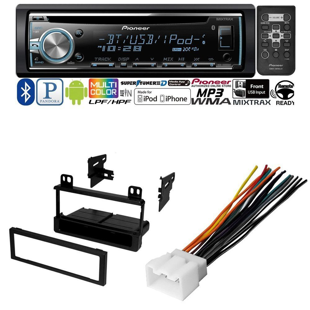 CAR CD STEREO RECEIVER DASH INSTALL MOUNTING KIT WIRE HARNESS FORD LINCOLN MERCURY