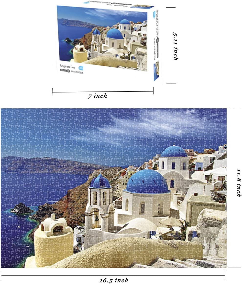 1000 Piece Mini Jigsaw Puzzle Landscape Puzzles for Adult 16.5x11 ...