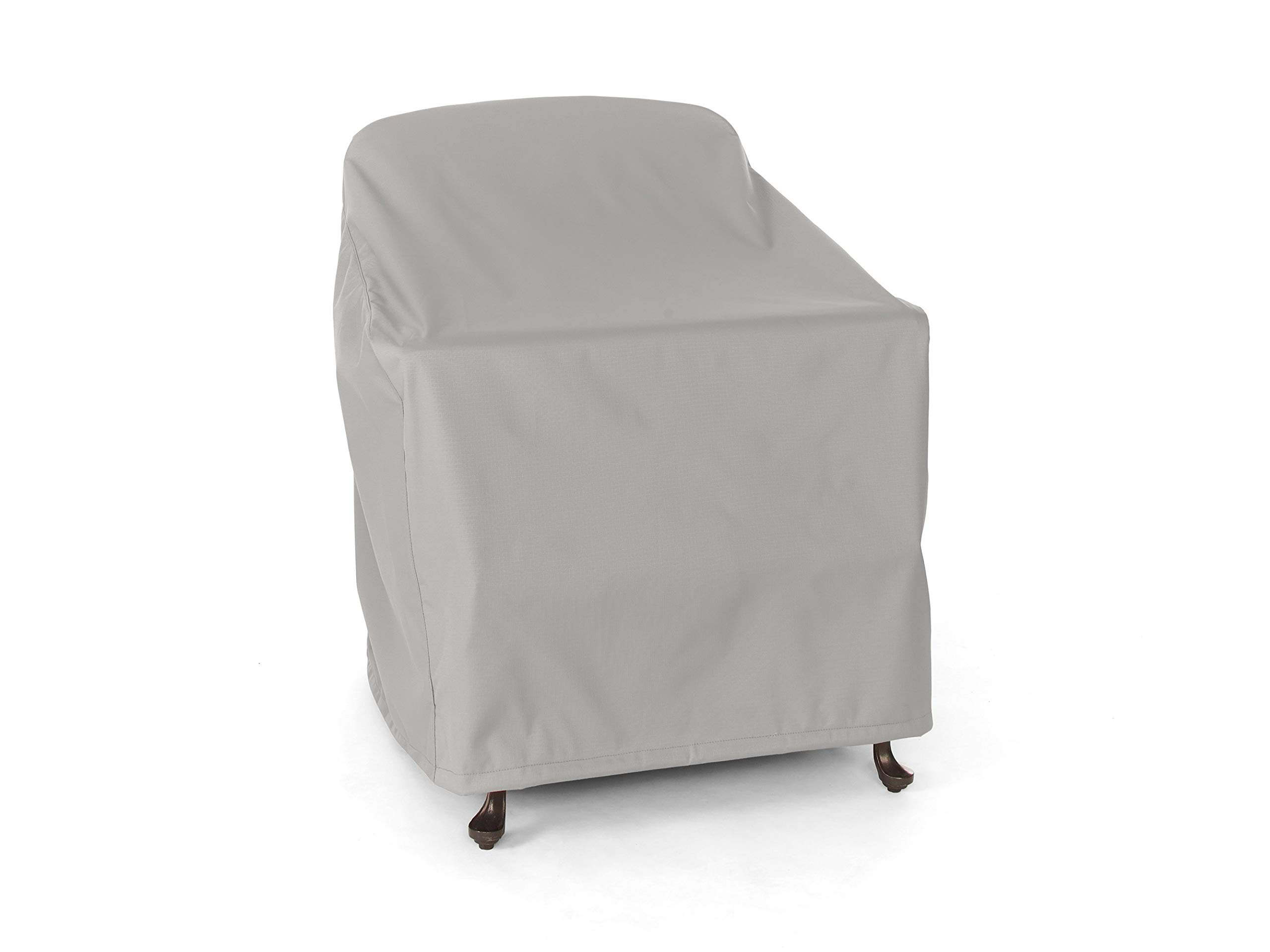 CoverMates: Outdoor Chair Cover - Fits 36 Inch Width x 35 Inch Depth x 32 Inch Height - Ultima Ripstop - 600D UV/Water Resistant Poly - Covered Vent - 4 Buckle Straps - 7YR Warranty- Ripstop Grey