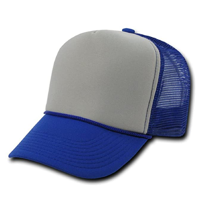 97d35331 DECKY Industrial Trucker Mesh Caps Plain Baseball Hat (Adjustable ...