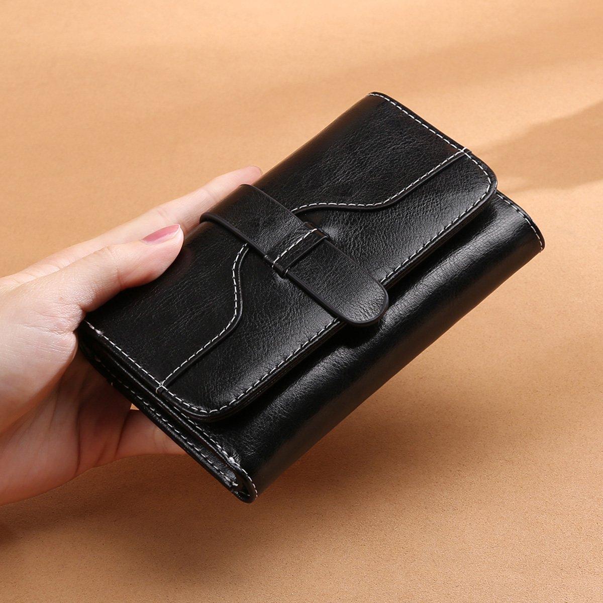 Vintage Leather Women short Wallet Coin Pocket Phone Purse Female Card Holder by Sendefn (Image #5)