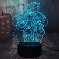 Naruto Anime Figure 3D Optical Illusion Night Light Hatake Kakashi Uzumaki Naruto Uchiha Sasuke Haruno Sakura 7 Colors…