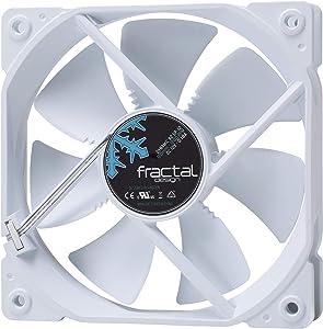 Fractal Design Dynamic X2 GP-12 Computer Fan - Silent Fan - High Airflow – 120x120x25 mm – 1200RPM – Hydraulic Fdb Bearings – Trip Wire - Aerodynamically Shaped Struts – 12V - Whiteout (Single)
