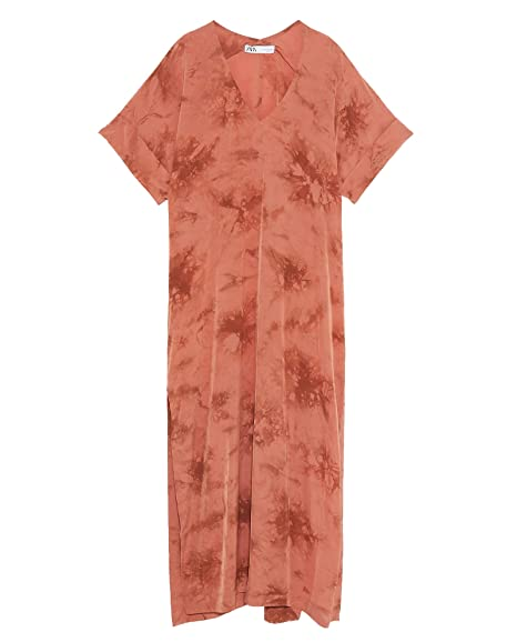 10368bae Zara Women's Tie-dye Tunic 2731/054 Red: Amazon.co.uk: Clothing