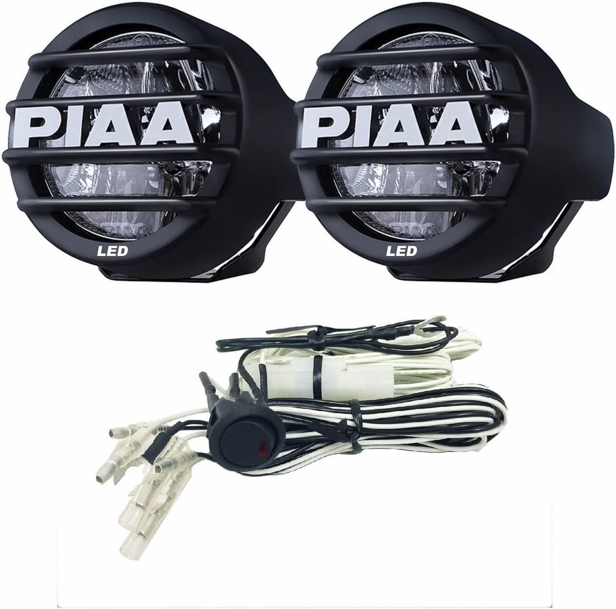 piaa motorcycle lights wiring diagram amazon com piaa 5370 black led fog lamp kit automotive  piaa 5370 black led fog lamp kit