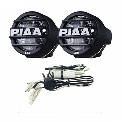 amazon com piaa 5370 black led fog lamp kit automotive 05 mustang fog light harness piaa 5370 black led fog lamp kit