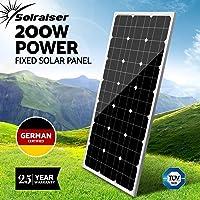 12V 200W 250W 300W Solar Panel Kit Monocrystalline Generator Caravan Camping Battery Charging Home House