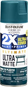 Rust-Oleum 328397 American Accents Spray Paint, 12 Oz, Ultra Matte Deep Teal