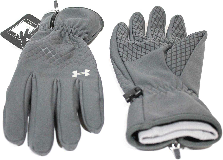 UA CGI Winter Sports Under Armour Mens ColdGear Infrared Run Liner Gloves Pair