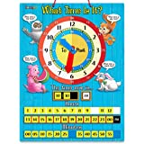 ZazzyKid Time Teaching Clock for Basic-Math: 12.6 x 16.5 inches Board with Magnetic Game Numbers