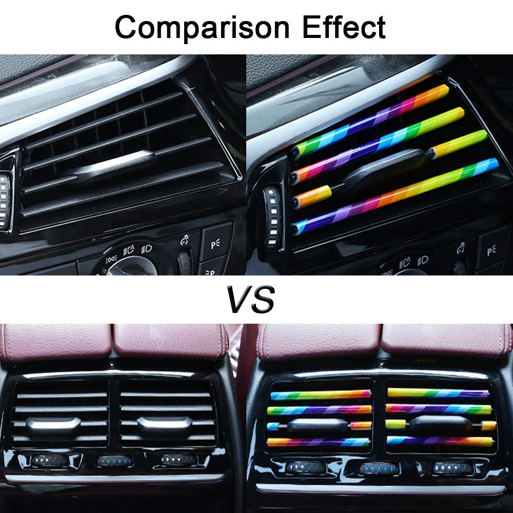 TIDO Car Air Outlet Vent Moulding Trim,Pack of 10 Multicolor