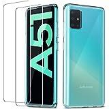QHOHQ Funda Samsung Galaxy A51 4G (No 5G)+2 Pack Cristal Templado Protector de Pantalla Samsung Galaxy A51 4G, Ultra…