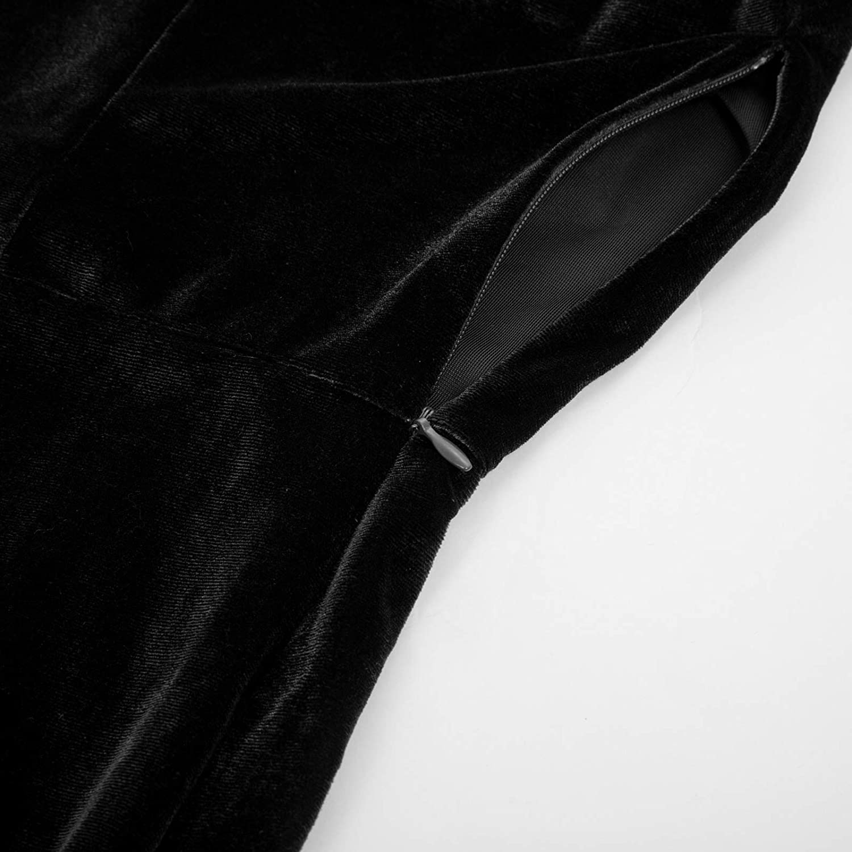 Belle Poque Women Vintage 1950s Elegant 3//4 Sleeve Elastic Velvet Patchwork Pencil Prom Ball Dress 929