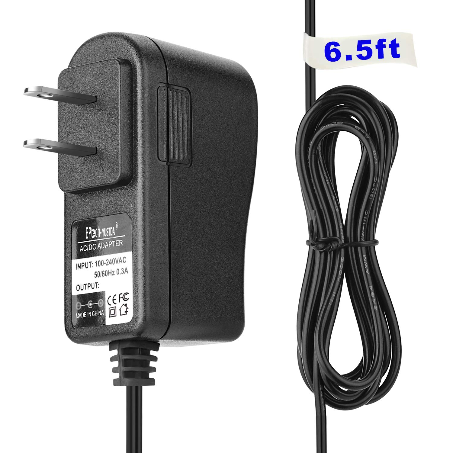 AC/DC Adapter Replacement for Pool Blaster MAX, MAX HD, IVAC M3, IVAC 350, and Speed VAC PBA099-US-EU-QUICK Charge Battery Charger Power Supply Cord Cable PS Mains PSU