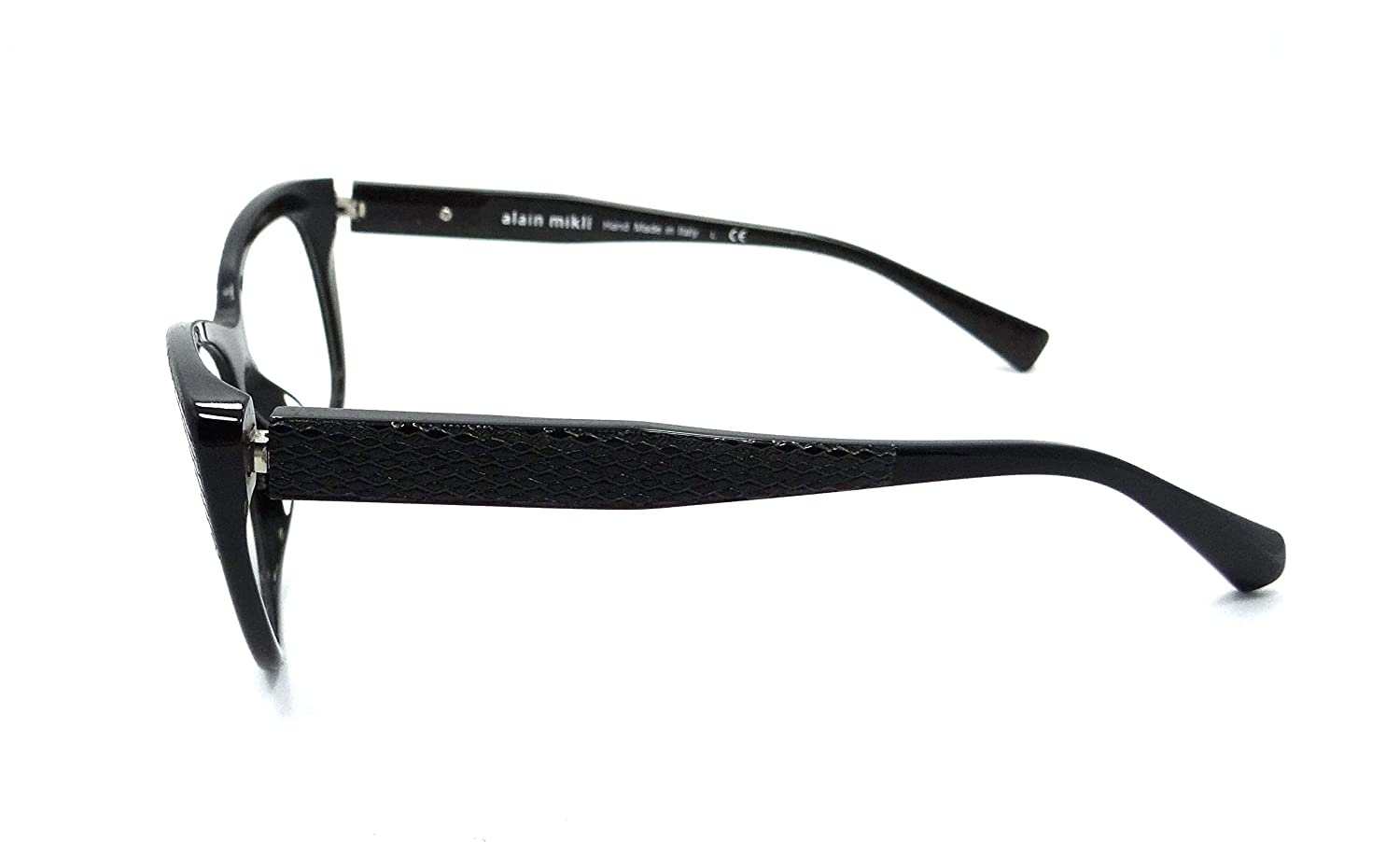 37ff47332d Amazon.com  Alain Mikli Cateye Eyeglasses A01346M B0J2 Size  52mm Black  1346M  Clothing