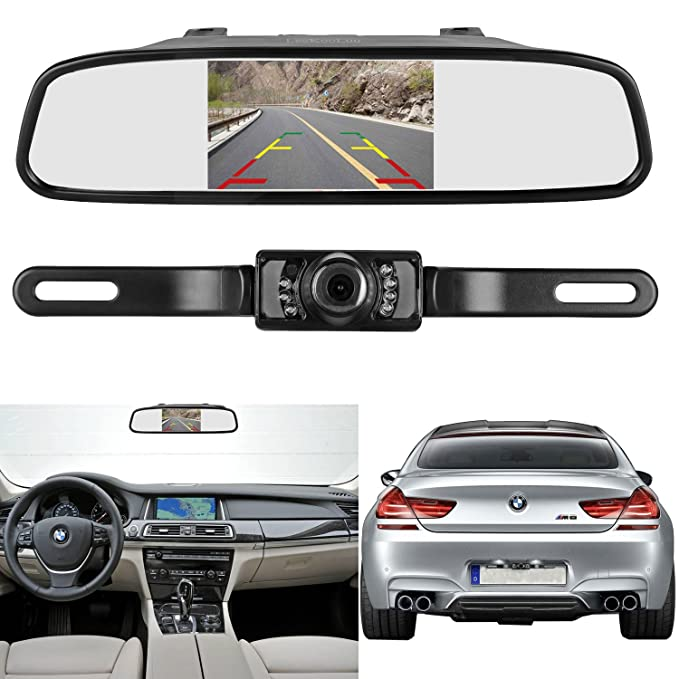 Amazon leekooluu backup camera and 43 mirror monitor kit for leekooluu backup camera and 43 mirror monitor kit for cartruck wire single asfbconference2016 Gallery