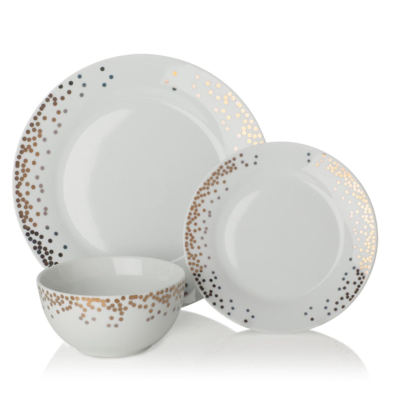Sabich Gatsby 12 Piece Porcelain Dinner Set Amazon.co.uk Kitchen \u0026 Home  sc 1 st  Amazon UK & Sabich Gatsby 12 Piece Porcelain Dinner Set: Amazon.co.uk: Kitchen ...