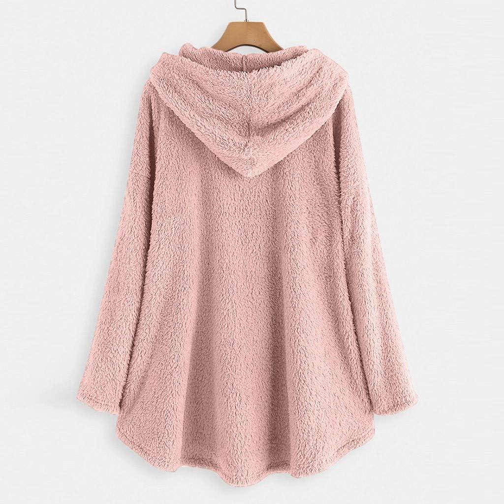 Shenye Women/'s Hoodie Fleece Long Sleeve Sweatshirt Cat Embroidery Warm Hooded Top Button Pullover Sweater Plus Size