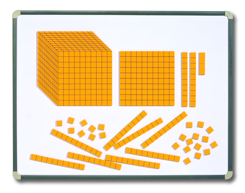 Learning Advantage 7423 Magnetic Foam Base, 10 Blocks, Grade: 1 to 6