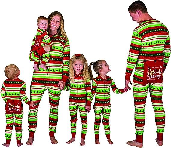 Pijamas Enteros Navidad Familia Pijama Mono Rayas Navideñas Noel ...