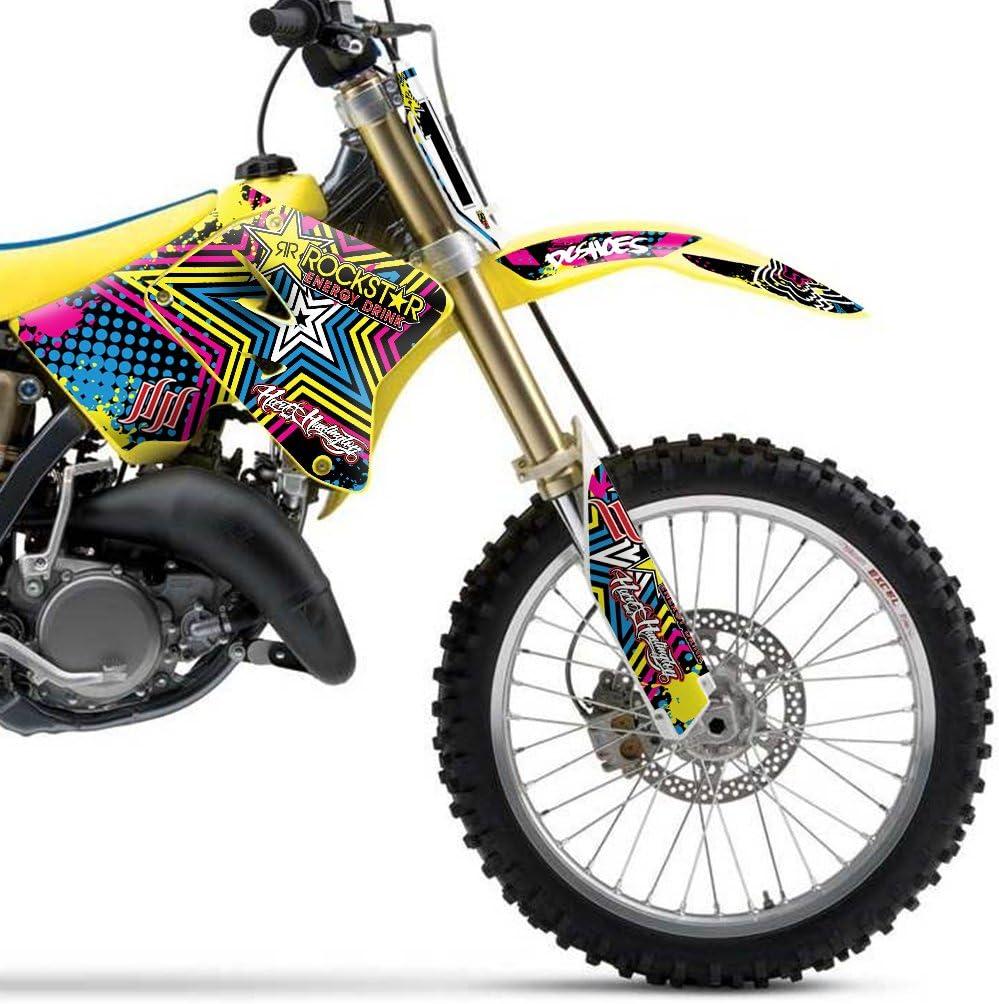 COLORFUL STAR MX MOTOCROSS DECAL KIT DECALCOMANIE PER SUZUKI RM 125 250 2001-2012