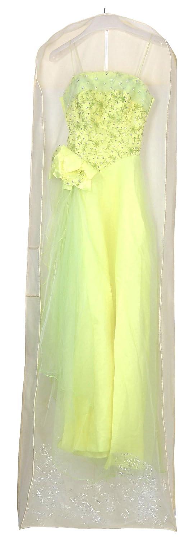 HIMRY® Sacca per Proteggere e Conservare Vestiti, circa 180 cm traspirante Borsa porta abiti per vestiti da sposa / vestiti da sera / vestiti / giacche / cappotti, beige, KXB105 Beige Kaxin KXB1005-beige