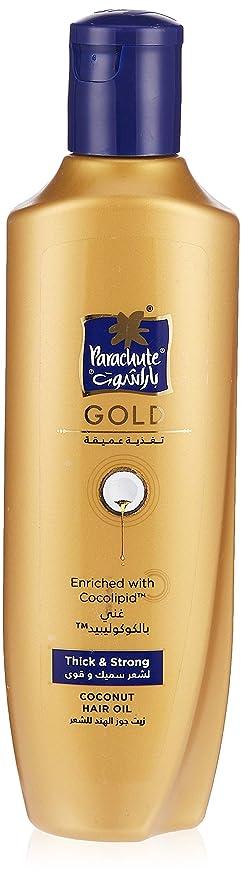 Amazon Com Parachute Gold Hair Oil Thick Strong 6 8 Fl Oz 200ml Coconut Hair Care Oil Beauty