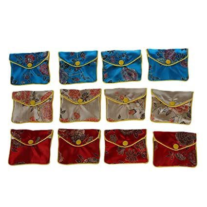 d384d2188 12 x Jewellery Jewelry Silk Purse Pouch Gift Bag Bags HOT: Amazon.co.uk:  Kitchen & Home