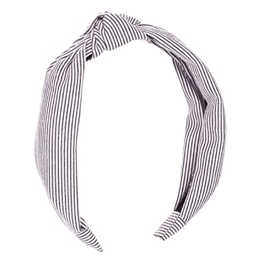 Image Unavailable. Image not available for. Colour  Black Stripes Knot  Alice Band ... 5bb8f46c2a0