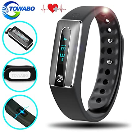 a206a2ed65e1ef TOWABO Fitness Tracker with Heart Rate monitor E3S Activity Watch Step  Walking Sleep Counter Wireless Wristband