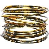 Efco Aludraht Aluminiumdraht ø 2mm x 2m rund, DUOCOLOR, schwarz gold