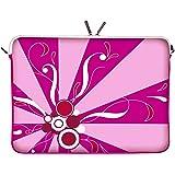 Digittrade LS155-11 Magic Rays Designer Schutzhülle für Laptops und Netbooks mit einer Bildschirmdiagonale von 29,5 cm (11,6 Zoll) pink-rosa