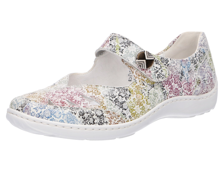 Waldläufer Mujeres Zapatos Planos Offwhite Multi Color, (Offwhite) 496309177/148 7.5 Multicolor