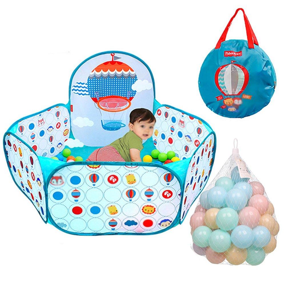 赤ちゃん遊び子供安全遊び場庭ホーム屋内屋外ペンポータブル劇場 (色 : 400*balls)  400*balls B07F7D6PHJ