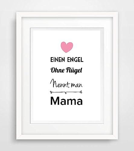 Einen Engel Ohne Flügel Nennt Man Mama Muttertag Mama