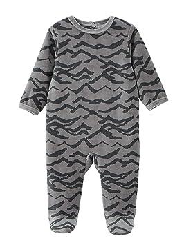47a375fd31594 VERTBAUDET Lot de 3 pyjamas bébé velours pressionné devant Lot Gris 1M -  54CM