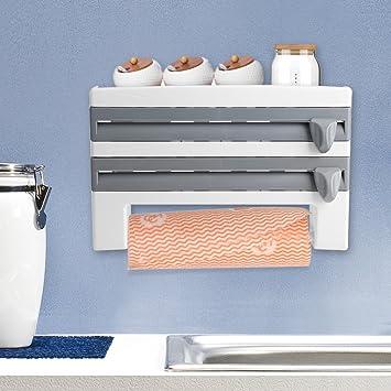 Botella de Salsa de pared para papel higiénico, papel film soporte rack de almacenamiento con