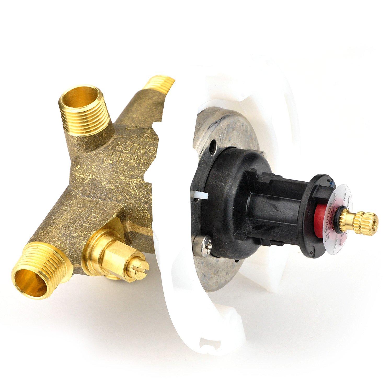 kohler k304ksna ritetemp pressure balancing valve flush valves amazoncom
