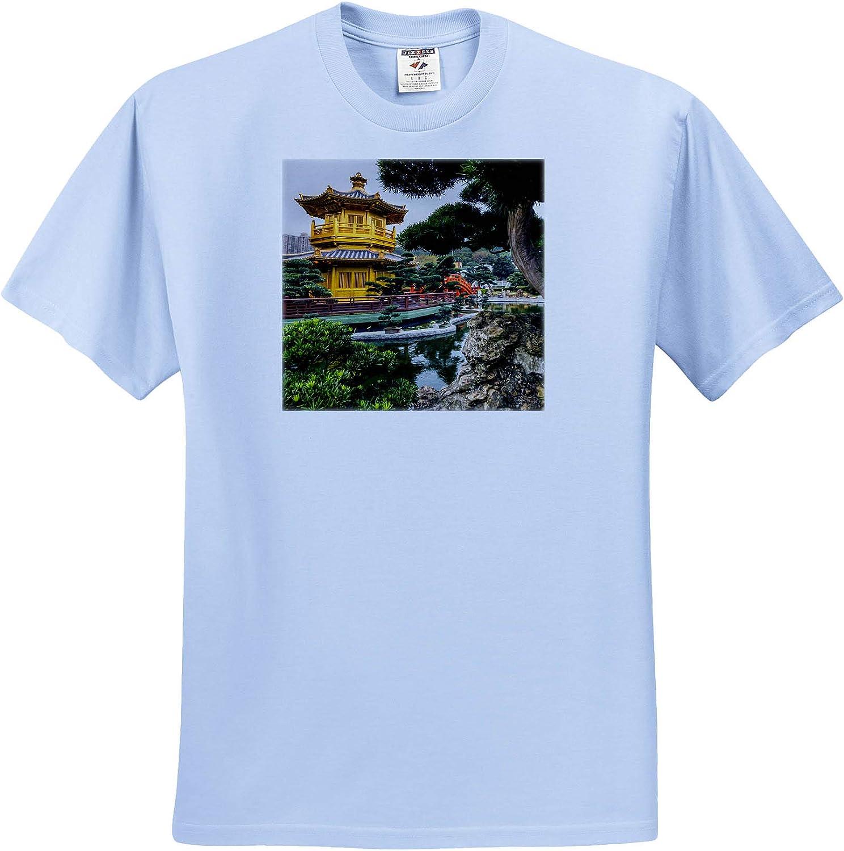 3dRose Danita Delimont - Places - Pagoda at The Chi Lin Nunnery and Nan Lian Garden, Hong Kong, China. - Youth Light-Blue-T-Shirt Small(6-8) (ts_329483_60)
