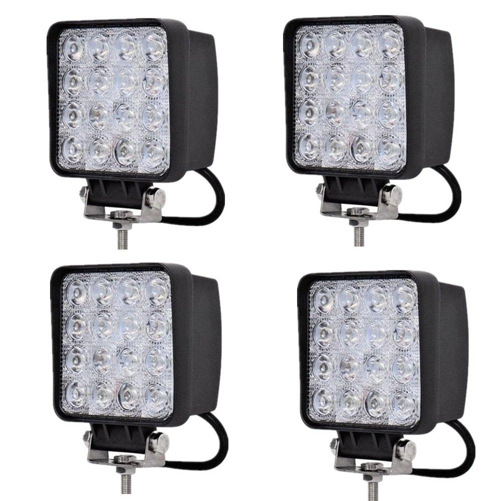MCTECH 2 X 48W Fari LED Offroad luce di inondazione del riflettore del faro della luce del lavoro di SUV, UTV, ATV fari di lavoro lampade aggiuntive proiettore di retromarcia Offroad faro