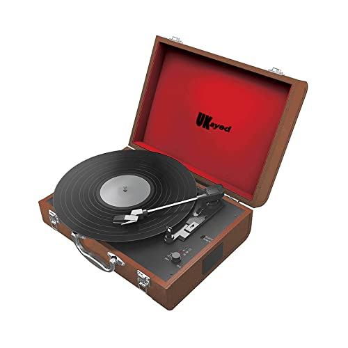 Retro Briefcase Vinyl Record Player Portable Turntable