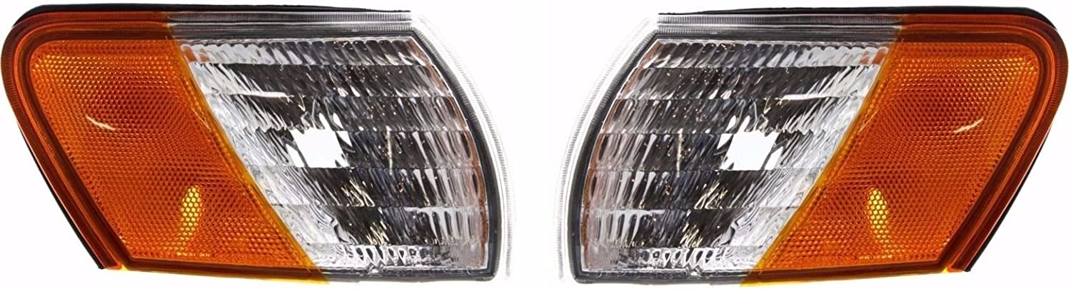 Replacement Front Headlights with Corner Lamps 4PC Set Monaco Safari Panther 1999-2001 RV Motorhome Pair Left /& Right