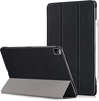 iPad Pro 11 2020 Funda,Heavy Duty Estuche Case Cuero PU Billetera Cover Carcasa Cierre Magnético Caso Tapa con Auto Wake Up/Sleep Cubrir Shell para iPad Pro 11 Pulgadas 2020 Tablet PC (Negro):