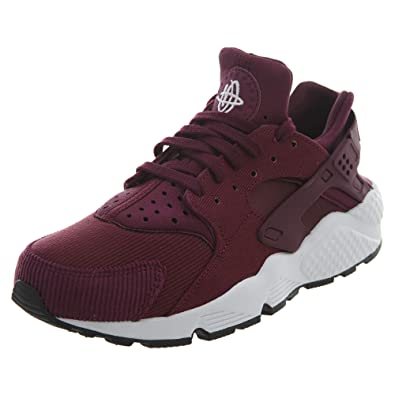 0b119b9fb07f Nike Air Huarache Run SE Women s Shoes Bordeaux Black White 859429-601 (