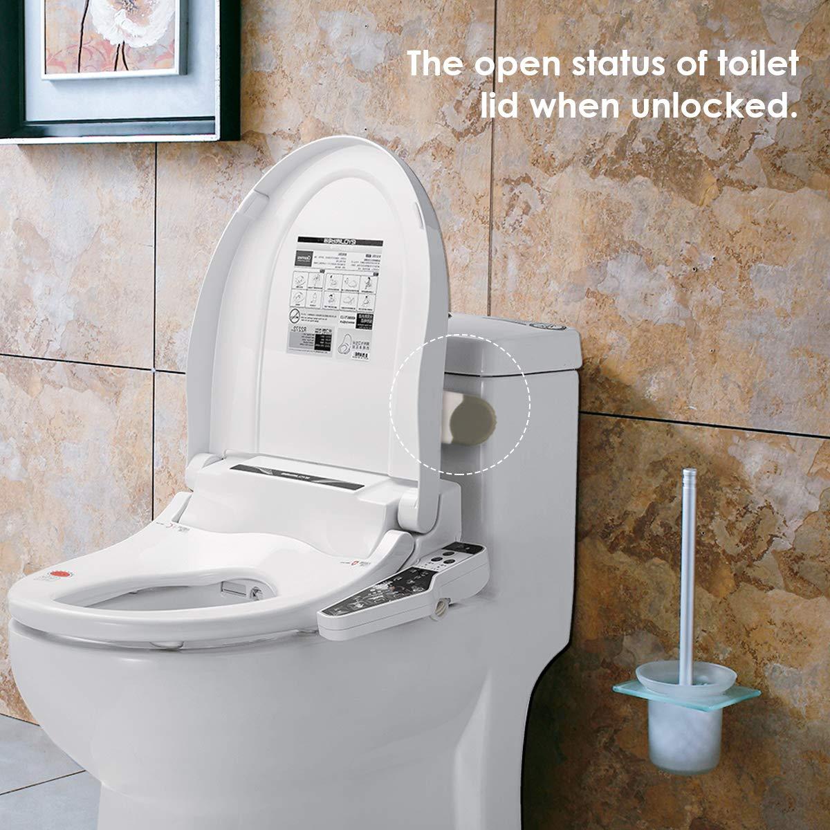 montage adh/ésif 3M Serrure de couvercle de toilette professionnelle pour b/éb/é avec bras Serrures de s/écurit/é pour b/éb/é Serrures de si/ège de toilette de s/écurit/é sup/érieure