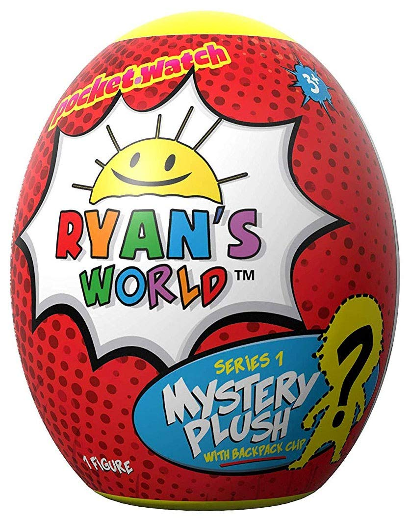 Ryan's World Surprise Egg Plush Clip - Includes One Random Plushie Ryan' s World
