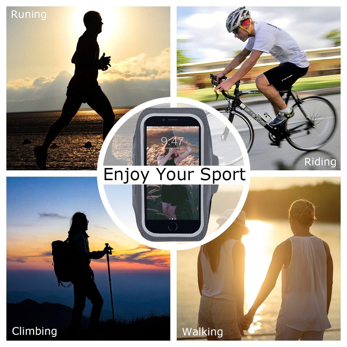 Schwarz CE-Link Sport Armband iPhone,Android Sportarmband H/ülle Handytasche Schwei/ßfest Running Armtasche Reiten Handyh/ülle f/ür iPhone Samsung Huawei 6.0 Inch