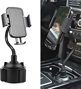 Car Cup Holder Phone Mount,Universal Adjustable Cup Holder Cradle Car Mount for iPhone Xs/Max/X/XR/8/8 Plus,Samsung Note 9/ S10+/ S9/ S9+/ S8 …