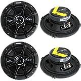 """4) Kicker 41DSC654 D-Series 6.5"""" 480 Watt 2-Way 4-Ohm Car Audio Coaxial Speakers"""