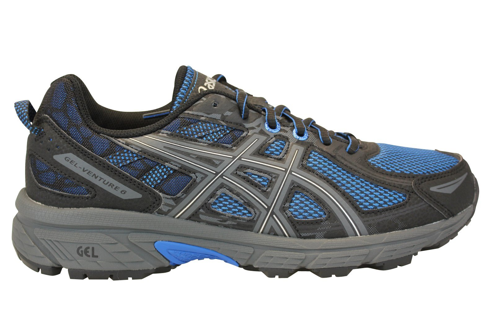 ASICS Gel-Venture 6 Mens Running Trainers T7G1N Sneakers Shoes (UK 7.5 US 8.5 EU 42, Victoria Blue Black 4545)